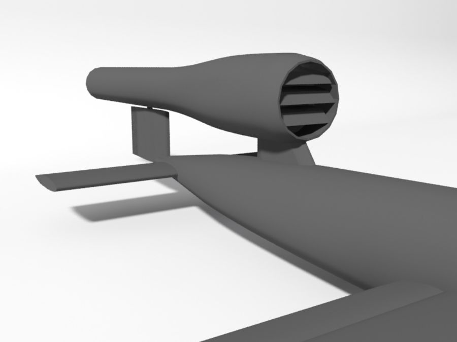 V1 Flying Bomb royalty-free 3d model - Preview no. 3