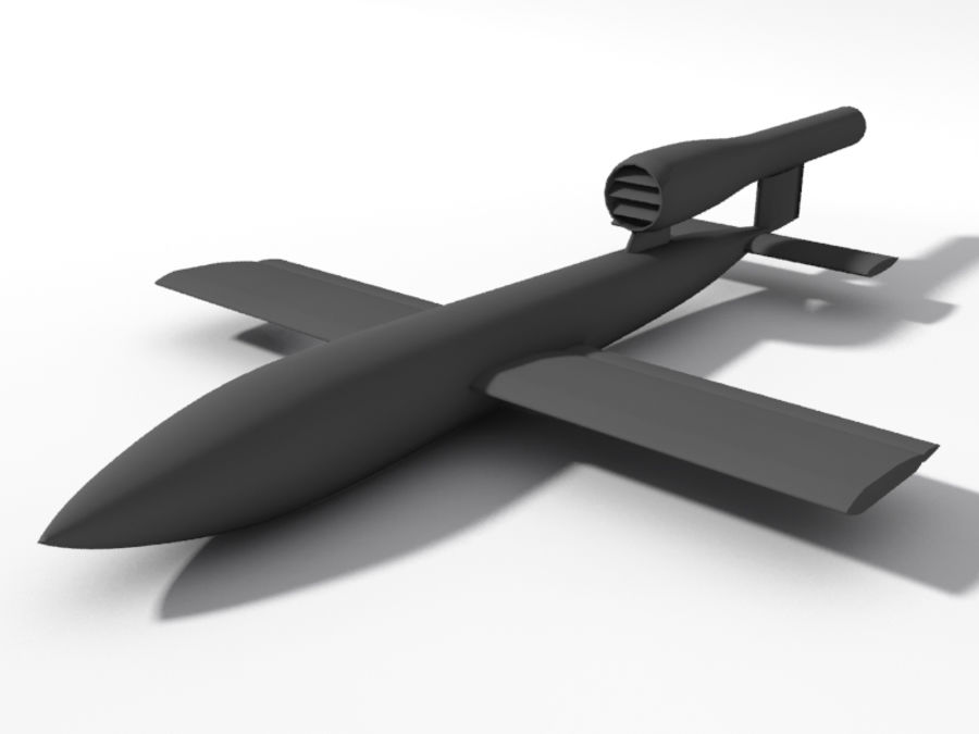 V1 Flying Bomb royalty-free 3d model - Preview no. 1
