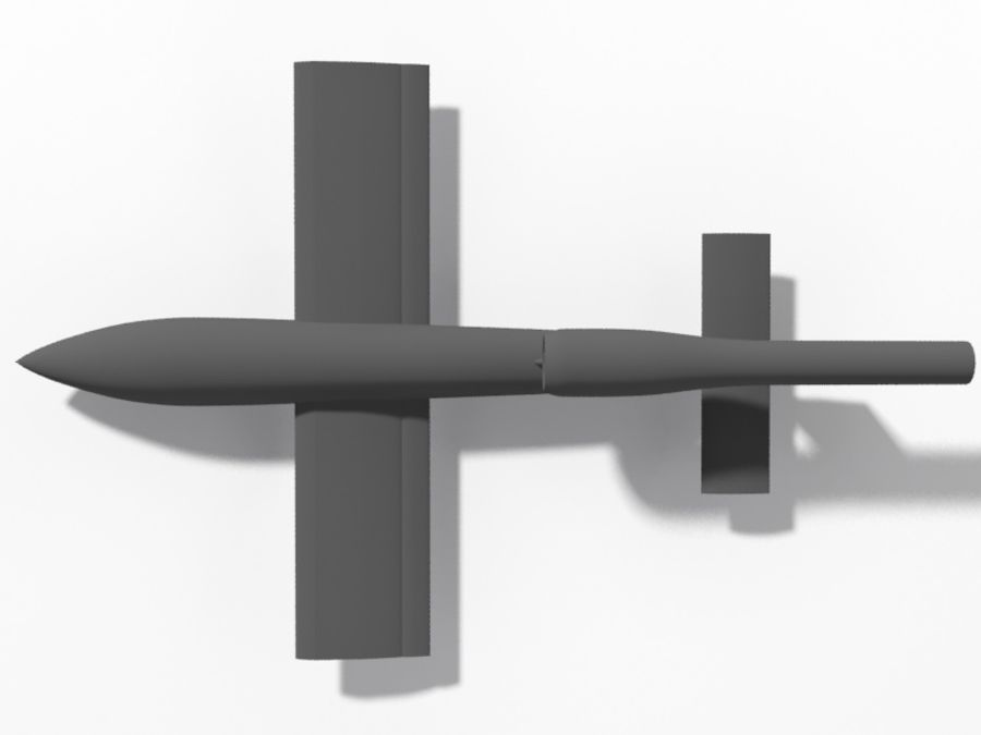 V1 Flying Bomb royalty-free 3d model - Preview no. 5