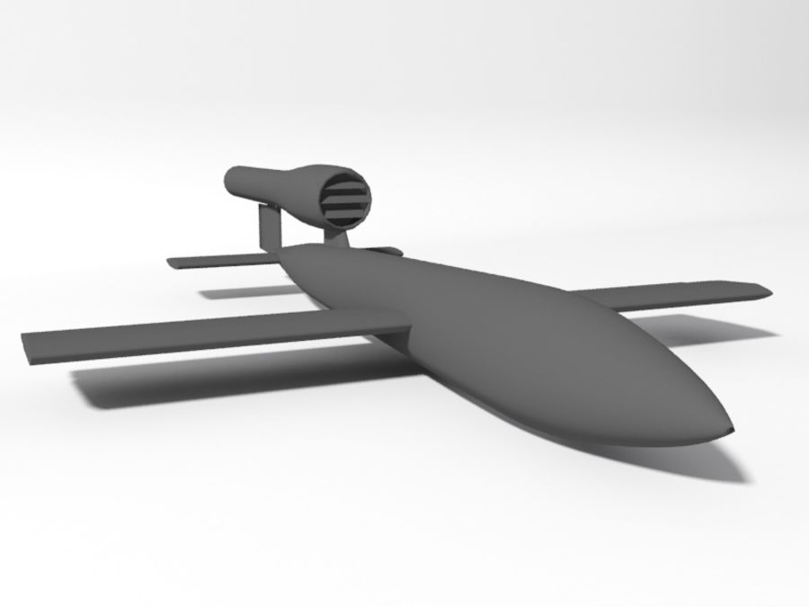 V1 Flying Bomb royalty-free 3d model - Preview no. 2