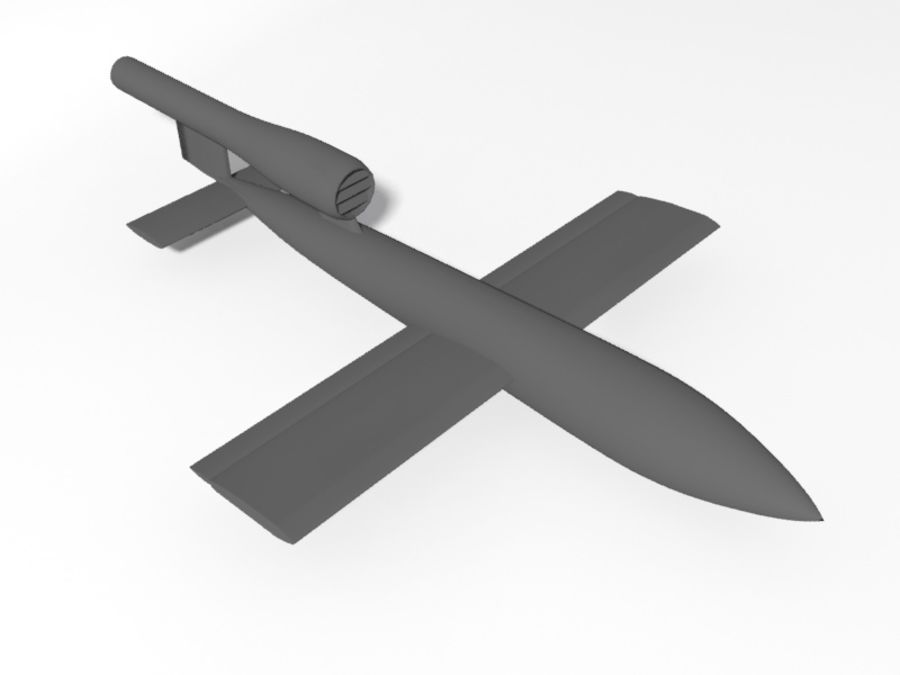 V1 Flying Bomb royalty-free 3d model - Preview no. 4