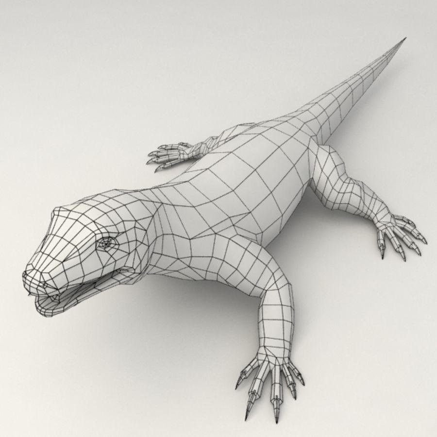 Monitor Lizard Rigged 3d Model 19 Obj X Fbx 3ds Free3d
