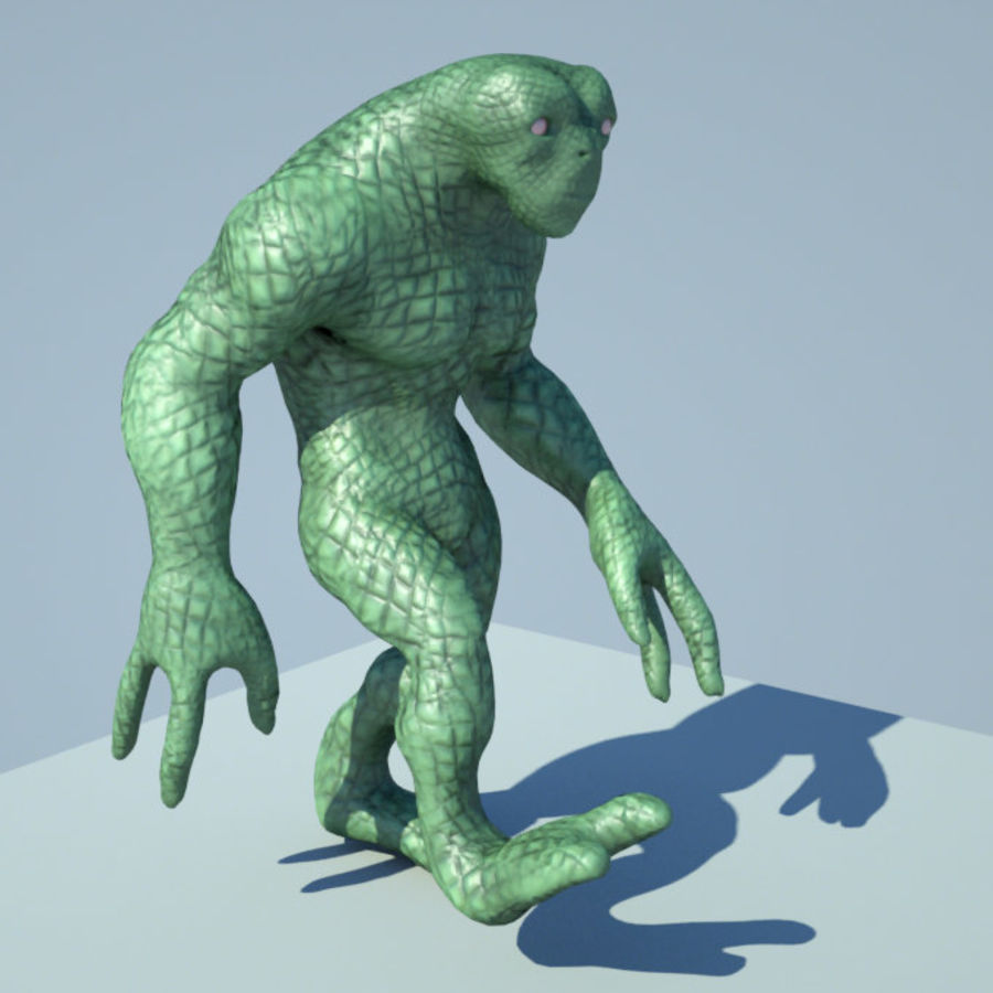Reptile Alien Maya Rig royalty-free 3d model - Preview no. 1