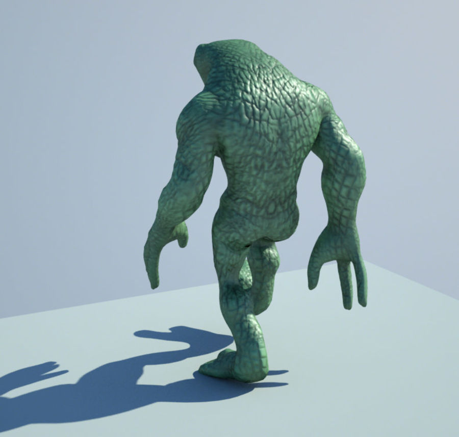 Reptile Alien Maya Rig royalty-free 3d model - Preview no. 3