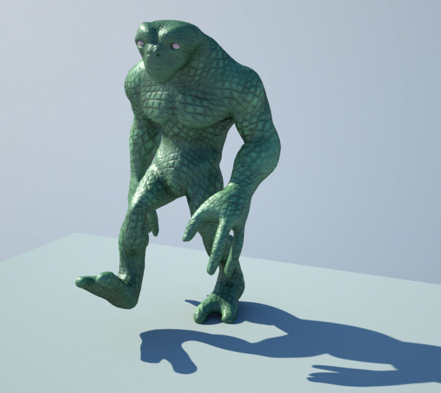 Reptile Alien Maya Rig royalty-free 3d model - Preview no. 2