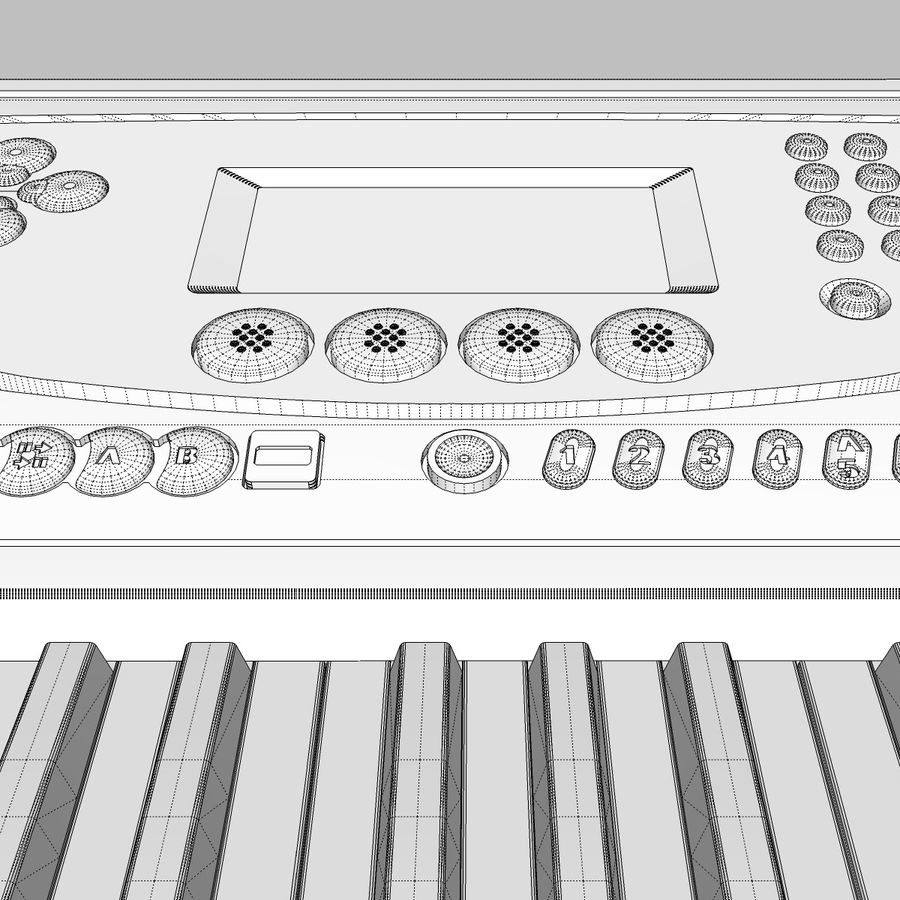 Toetsenbord: Yamaha PSR 270 royalty-free 3d model - Preview no. 28