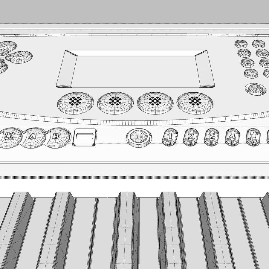 Tastiera: Yamaha PSR 270 royalty-free 3d model - Preview no. 28