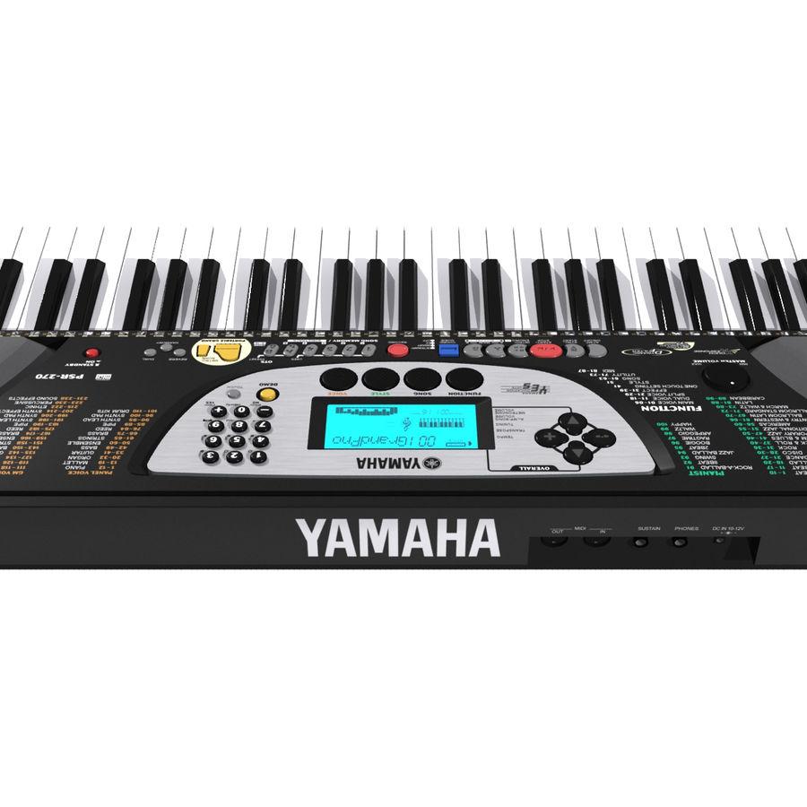 Tangentbord: Yamaha PSR 270 royalty-free 3d model - Preview no. 14