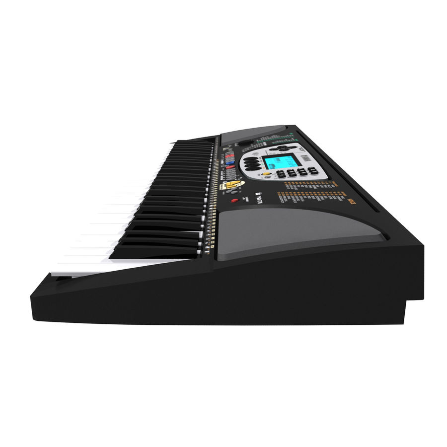 Tangentbord: Yamaha PSR 270 royalty-free 3d model - Preview no. 10
