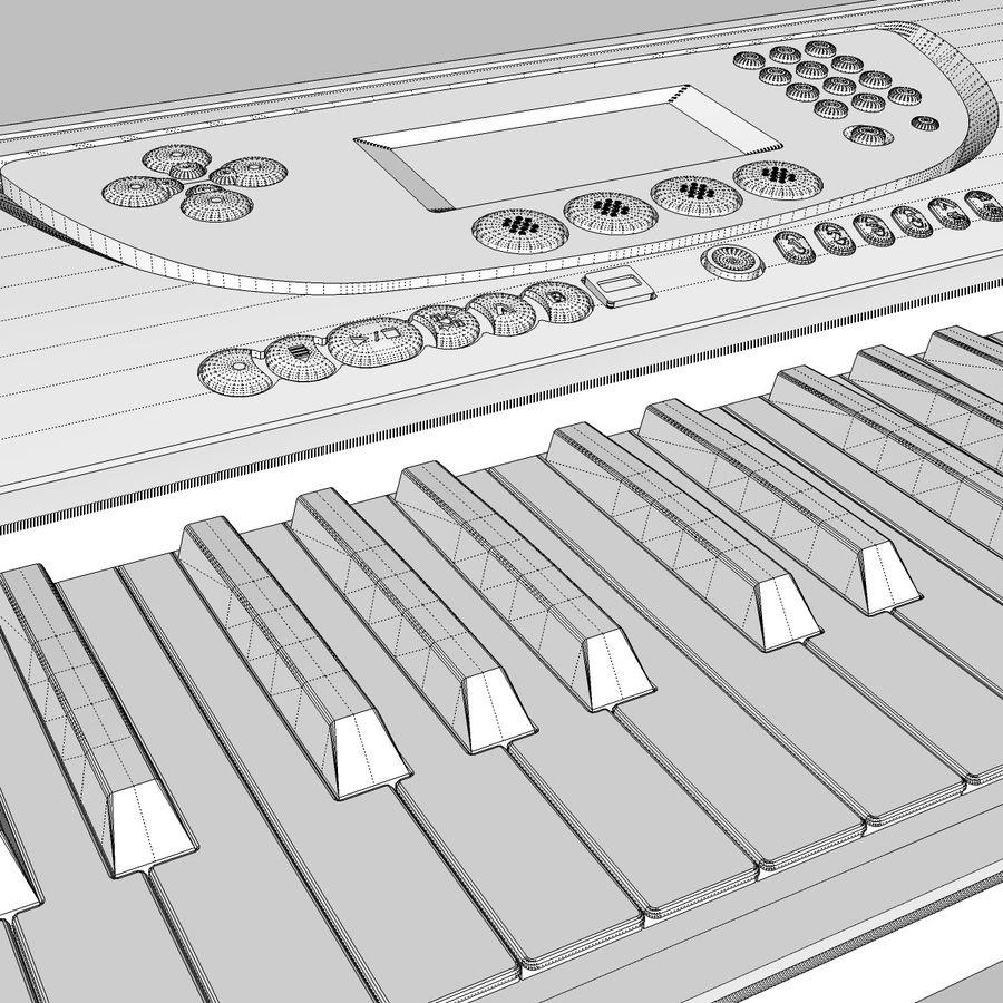 Tastiera: Yamaha PSR 270 royalty-free 3d model - Preview no. 26