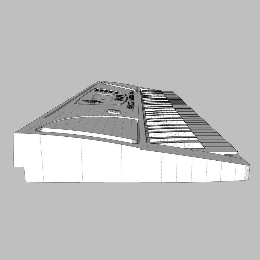 Tastiera: Yamaha PSR 270 royalty-free 3d model - Preview no. 19