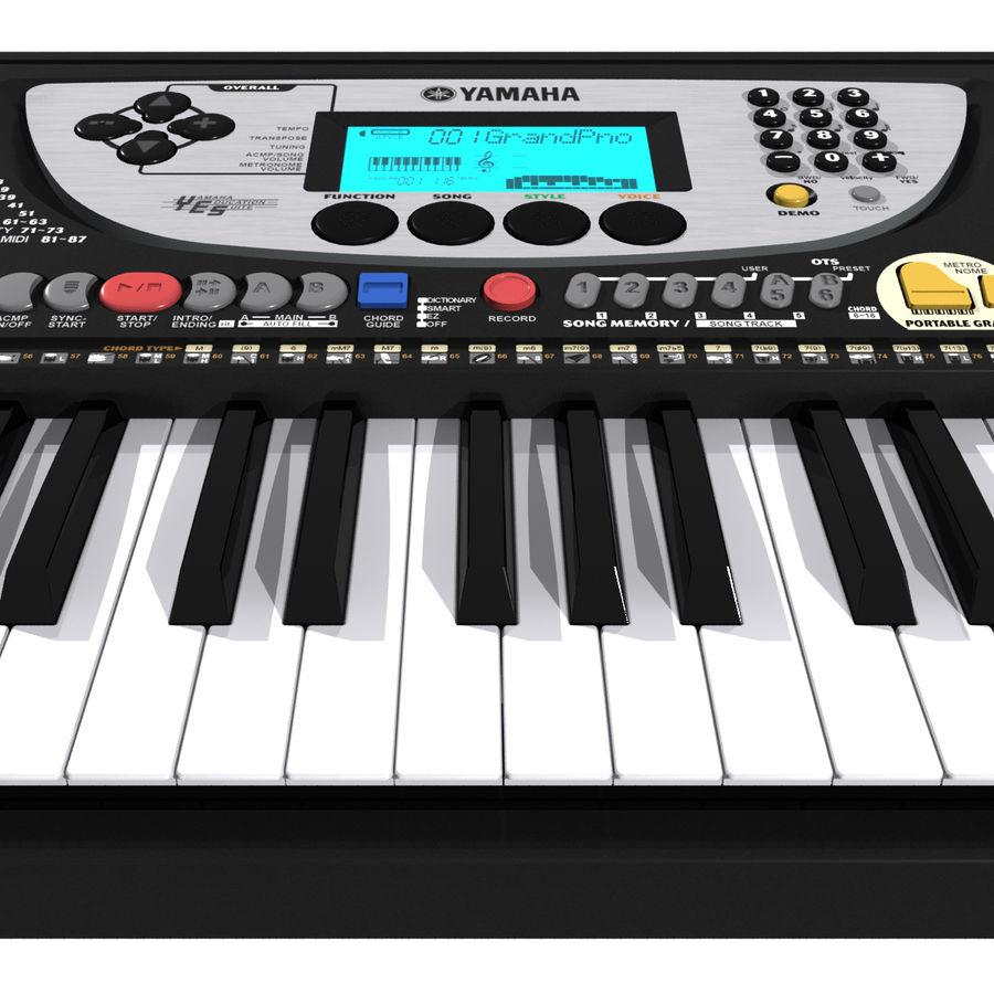 Tastiera: Yamaha PSR 270 royalty-free 3d model - Preview no. 9