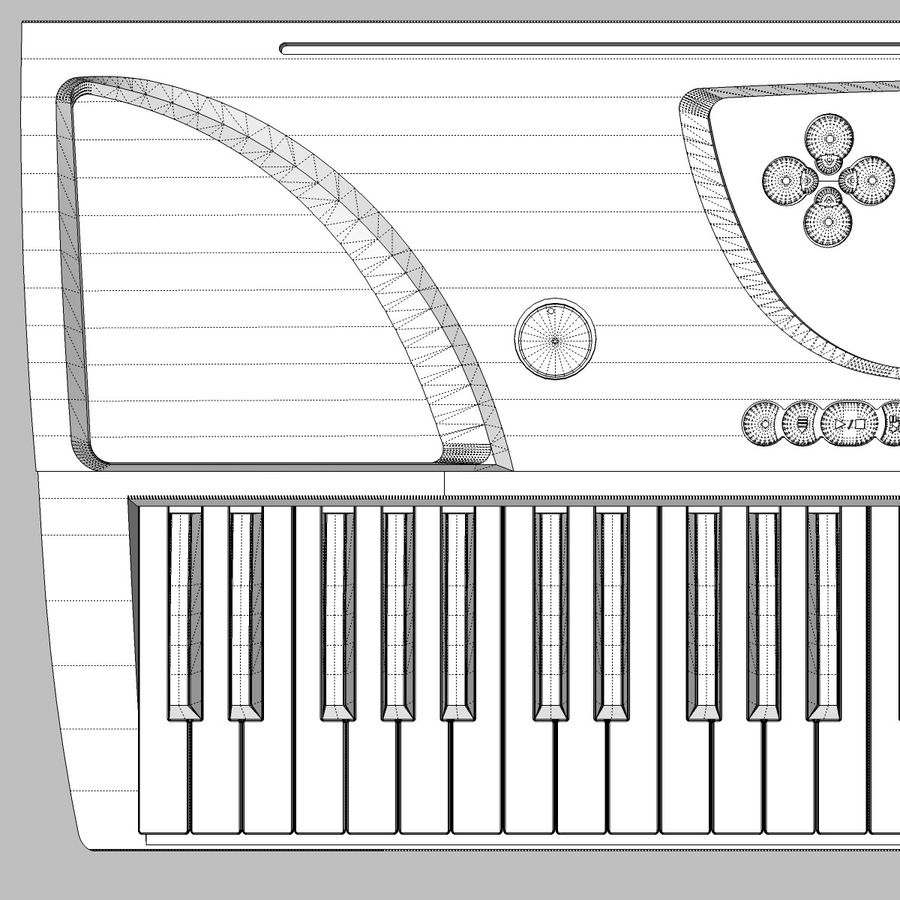 Tastiera: Yamaha PSR 270 royalty-free 3d model - Preview no. 20