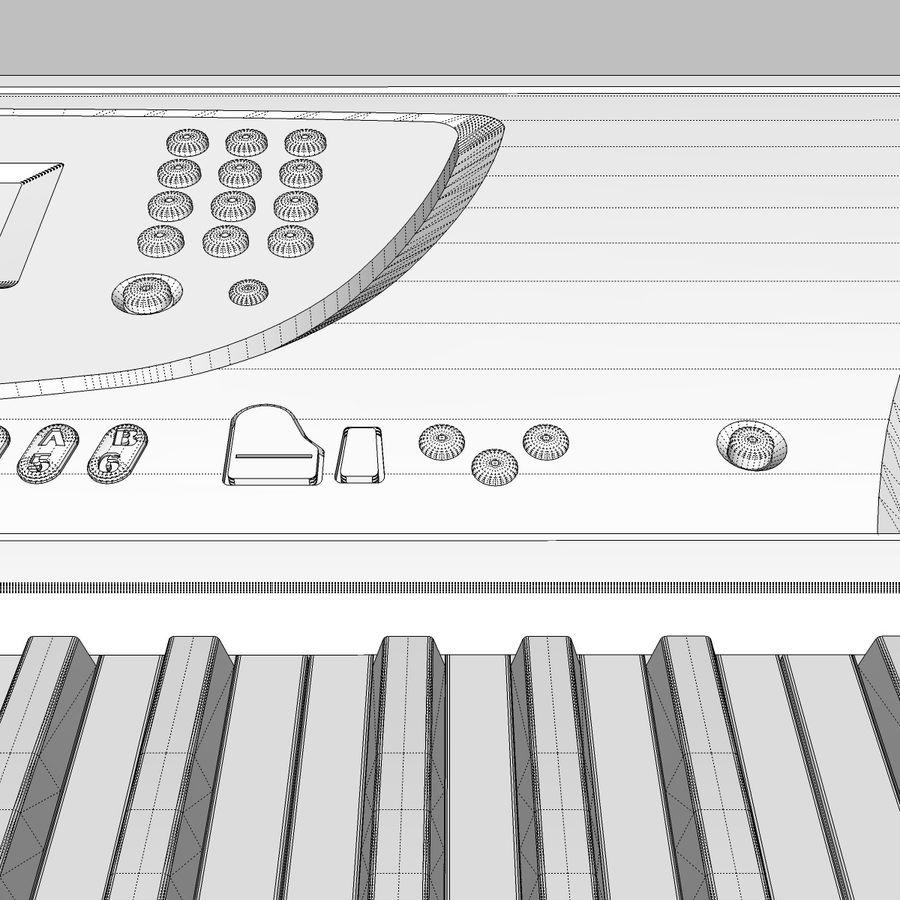 Tastiera: Yamaha PSR 270 royalty-free 3d model - Preview no. 29