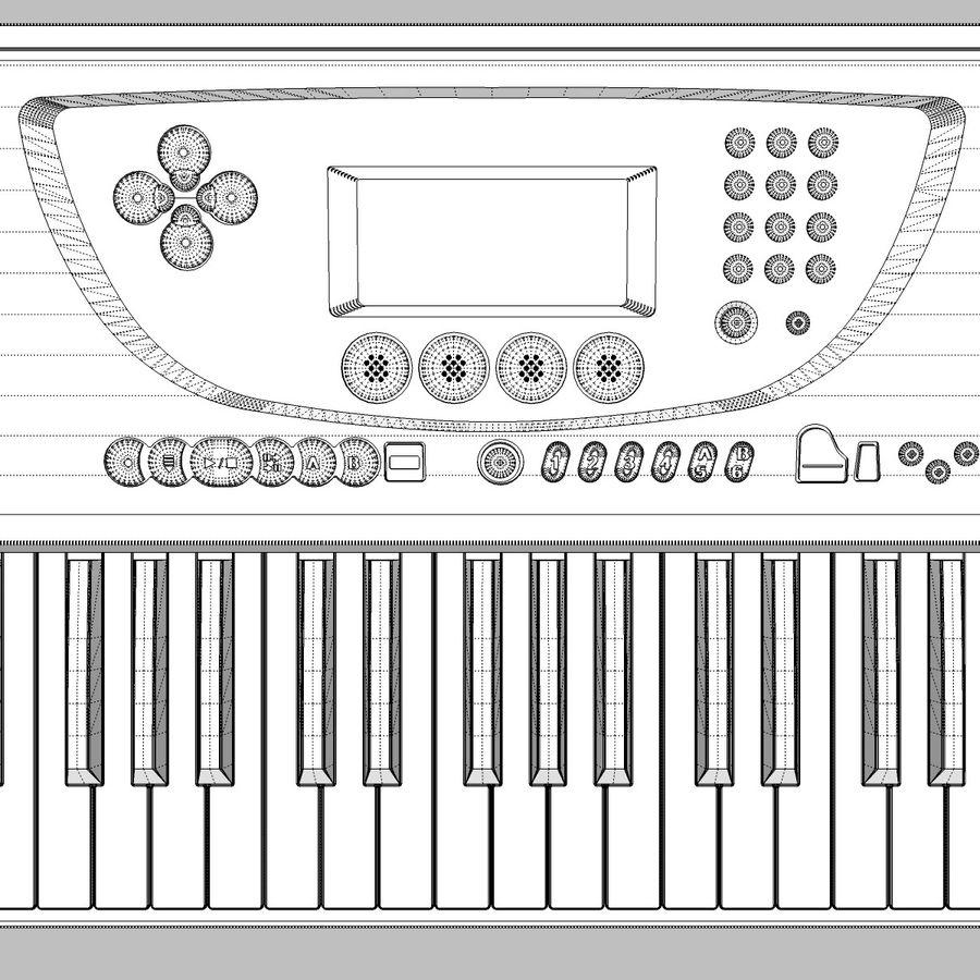 Toetsenbord: Yamaha PSR 270 royalty-free 3d model - Preview no. 21