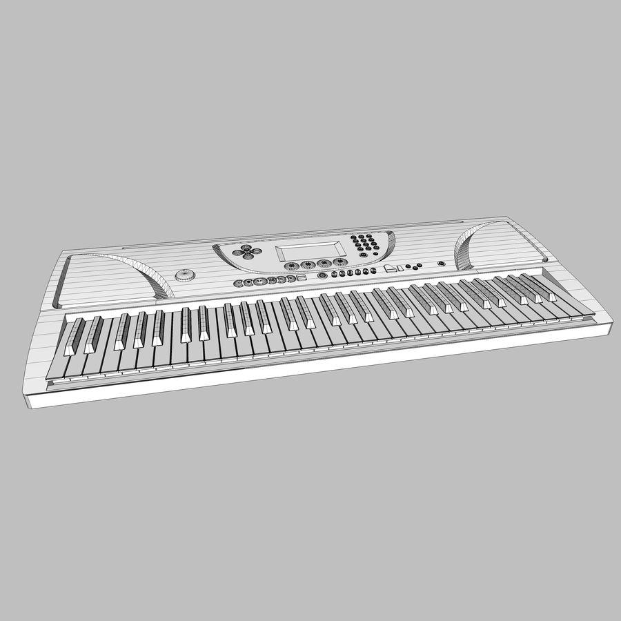 Tastiera: Yamaha PSR 270 royalty-free 3d model - Preview no. 16