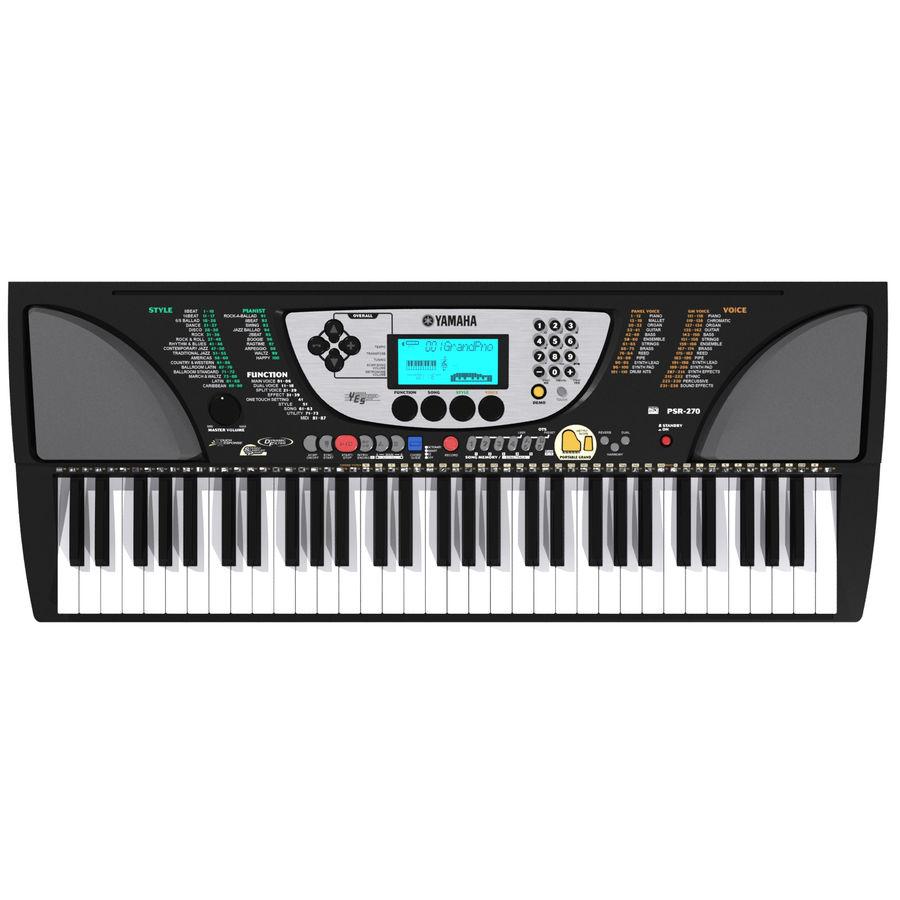 Tastiera: Yamaha PSR 270 royalty-free 3d model - Preview no. 2