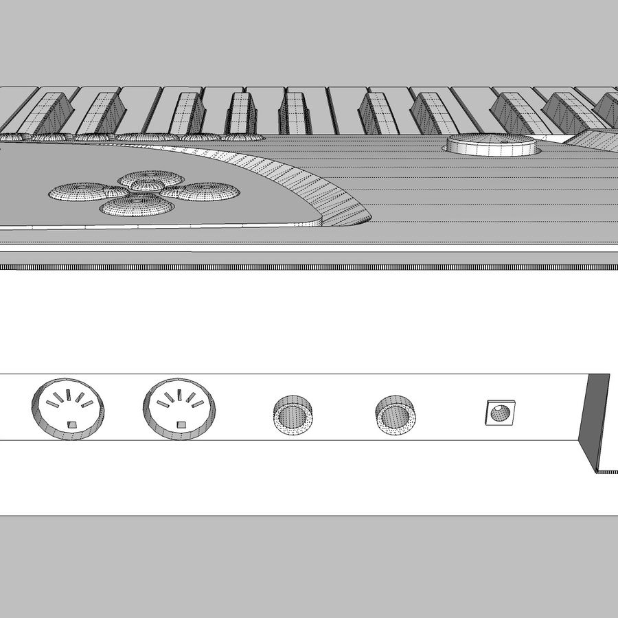 Tastiera: Yamaha PSR 270 royalty-free 3d model - Preview no. 24