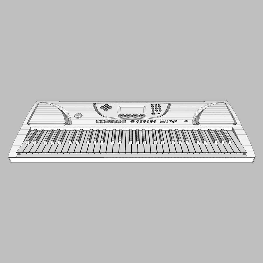 Tastiera: Yamaha PSR 270 royalty-free 3d model - Preview no. 18