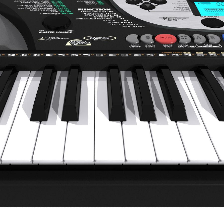 Toetsenbord: Yamaha PSR 270 royalty-free 3d model - Preview no. 12