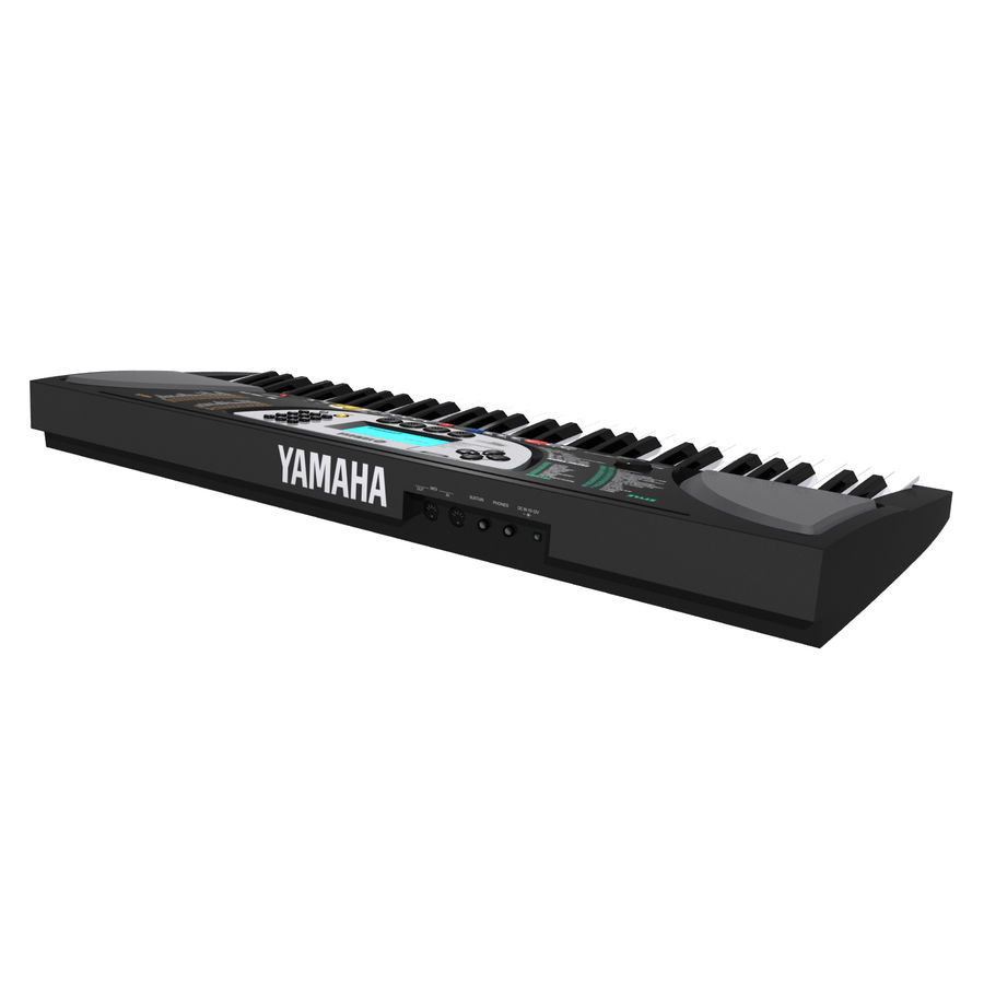 Tastiera: Yamaha PSR 270 royalty-free 3d model - Preview no. 13