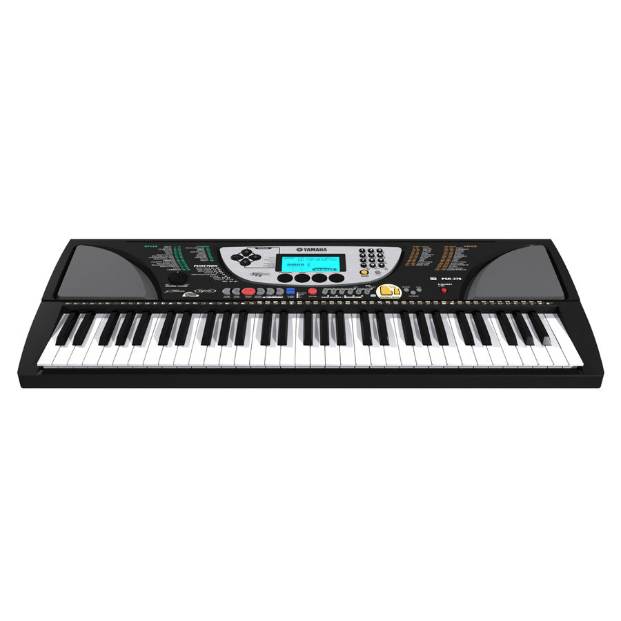 Tastiera: Yamaha PSR 270 royalty-free 3d model - Preview no. 6