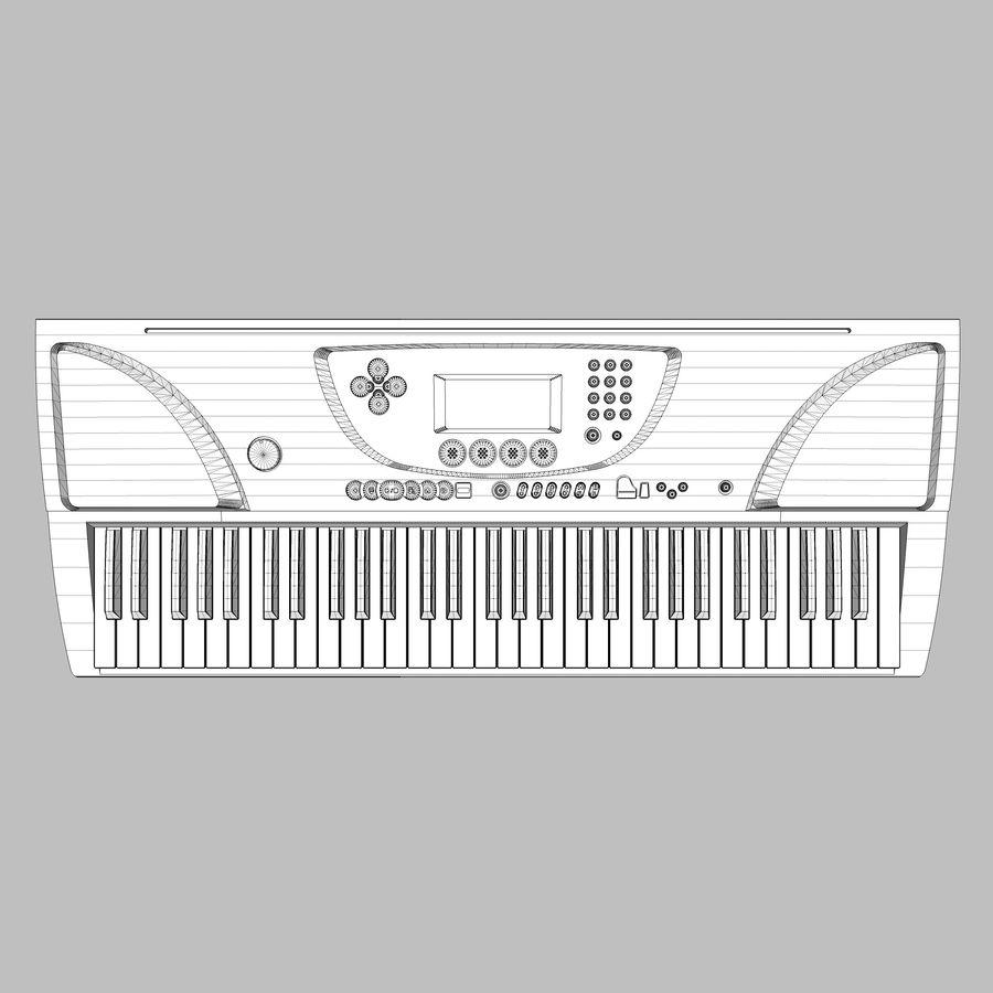 Toetsenbord: Yamaha PSR 270 royalty-free 3d model - Preview no. 15