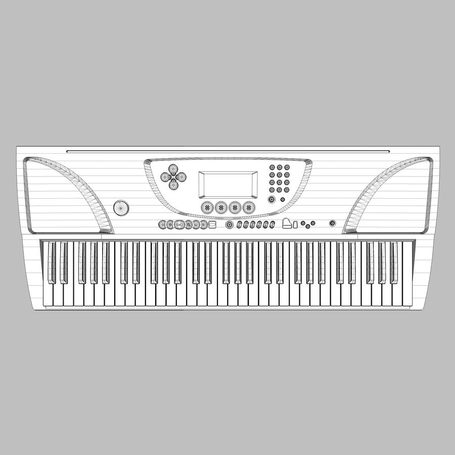 Tastiera: Yamaha PSR 270 royalty-free 3d model - Preview no. 15