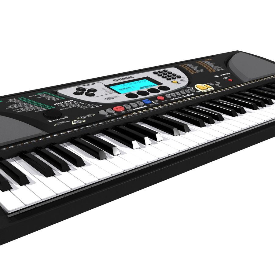 Tangentbord: Yamaha PSR 270 royalty-free 3d model - Preview no. 8