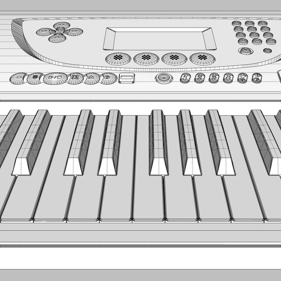 Tastiera: Yamaha PSR 270 royalty-free 3d model - Preview no. 25