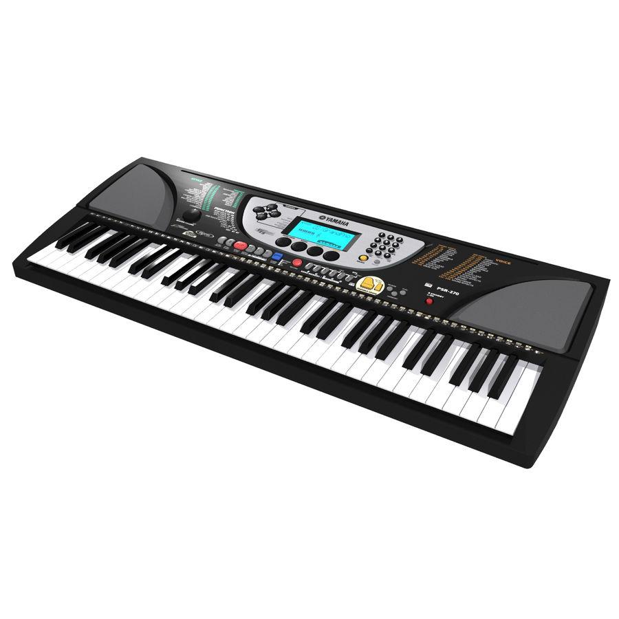 Tastiera: Yamaha PSR 270 royalty-free 3d model - Preview no. 7