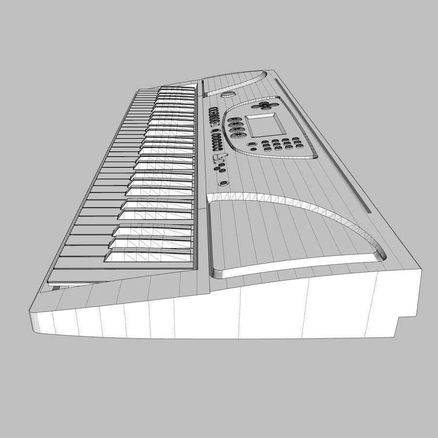 Toetsenbord: Yamaha PSR 270 royalty-free 3d model - Preview no. 30