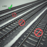 Low Poly Railway Segment 3d model