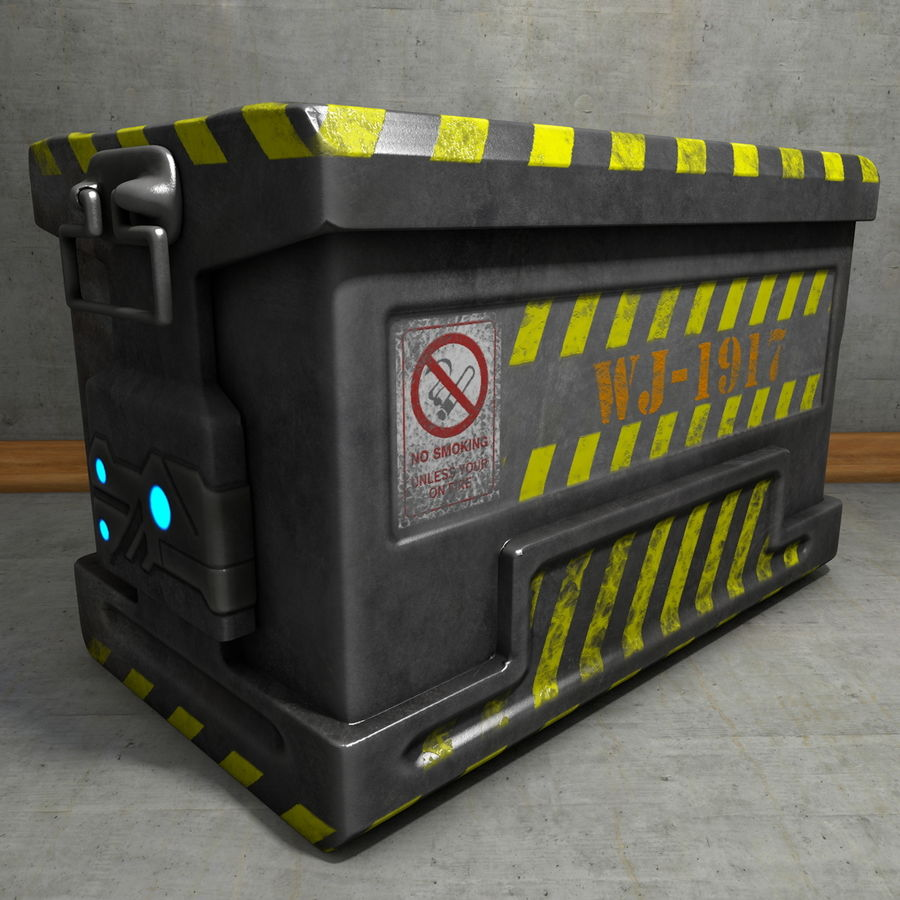 Metal Crate Ammo Box royalty-free 3d model - Preview no. 1