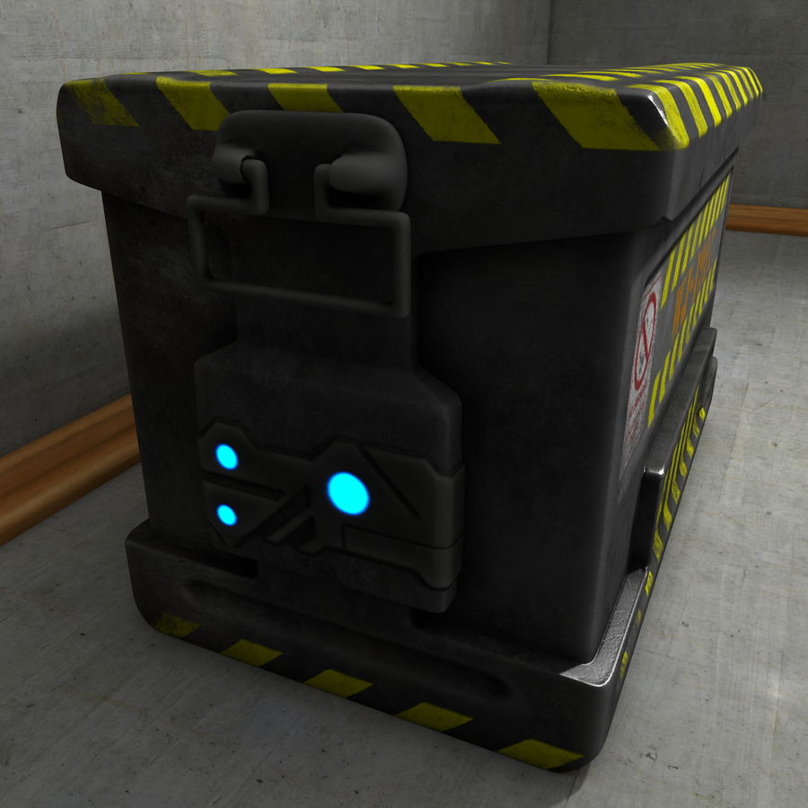 Metal Crate Ammo Box royalty-free 3d model - Preview no. 3