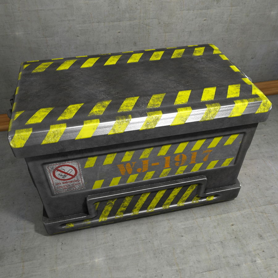 Metal Crate Ammo Box royalty-free 3d model - Preview no. 4
