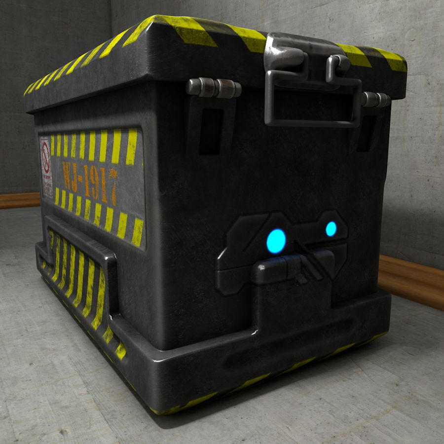 Metal Crate Ammo Box royalty-free 3d model - Preview no. 2