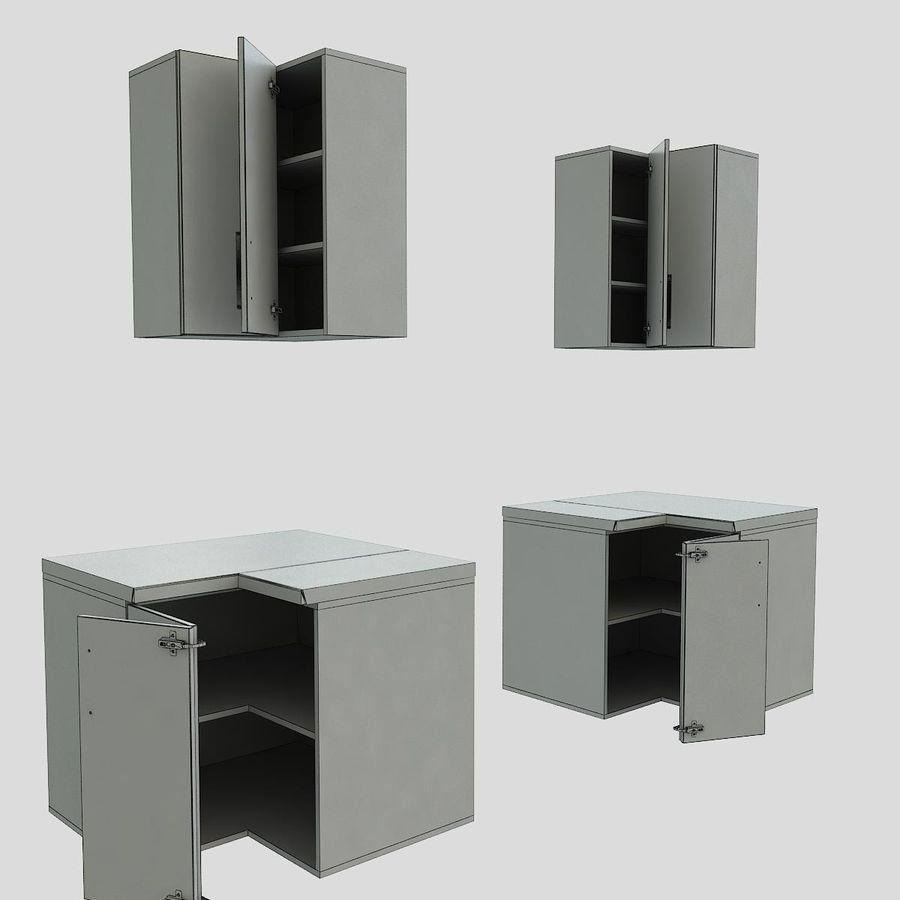 Muebles de cocina de esquina bajada 90 cm. Modelo 3D $6 ...