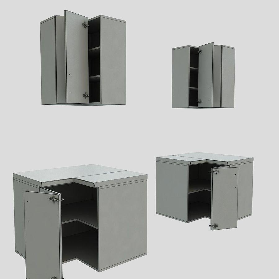 Mobili da cucina verso il basso angolo 90 cm Modello 3D $6 ...
