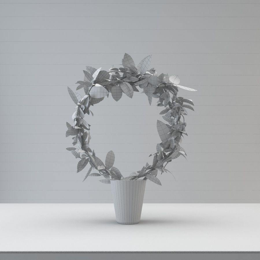 Pot de plantes réaliste royalty-free 3d model - Preview no. 4