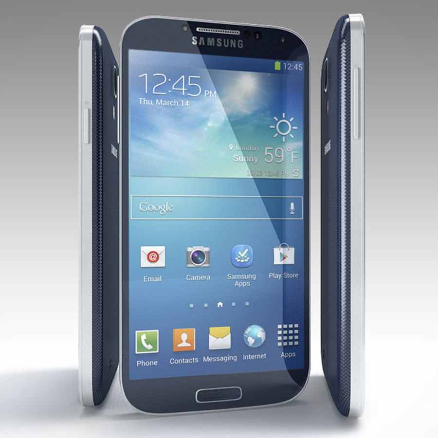 Samsung Galaxy SIV royalty-free 3d model - Preview no. 11