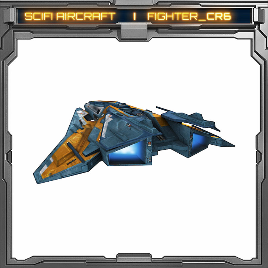 SciFi_CR6 royalty-free 3d model - Preview no. 6