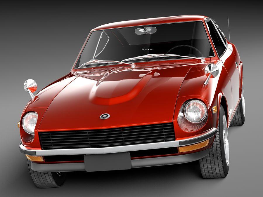 Datsun 240z 1969–1978 royalty-free 3d model - Preview no. 2