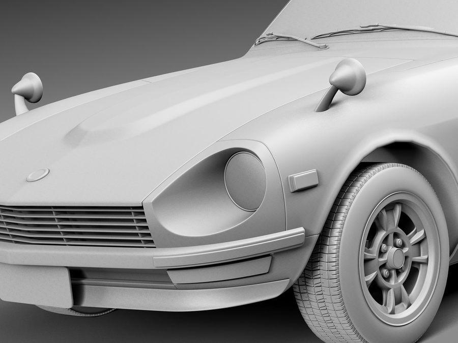 Datsun 240z 1969–1978 royalty-free 3d model - Preview no. 10