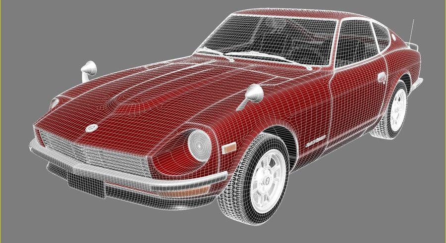Datsun 240z 1969–1978 royalty-free 3d model - Preview no. 16