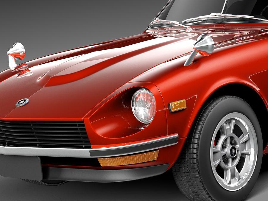 Datsun 240z 1969–1978 royalty-free 3d model - Preview no. 3