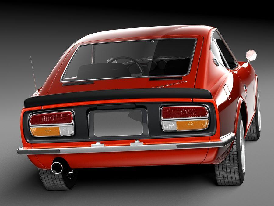 Datsun 240z 1969–1978 royalty-free 3d model - Preview no. 6