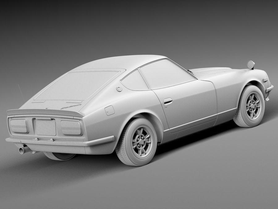 Datsun 240z 1969–1978 royalty-free 3d model - Preview no. 12