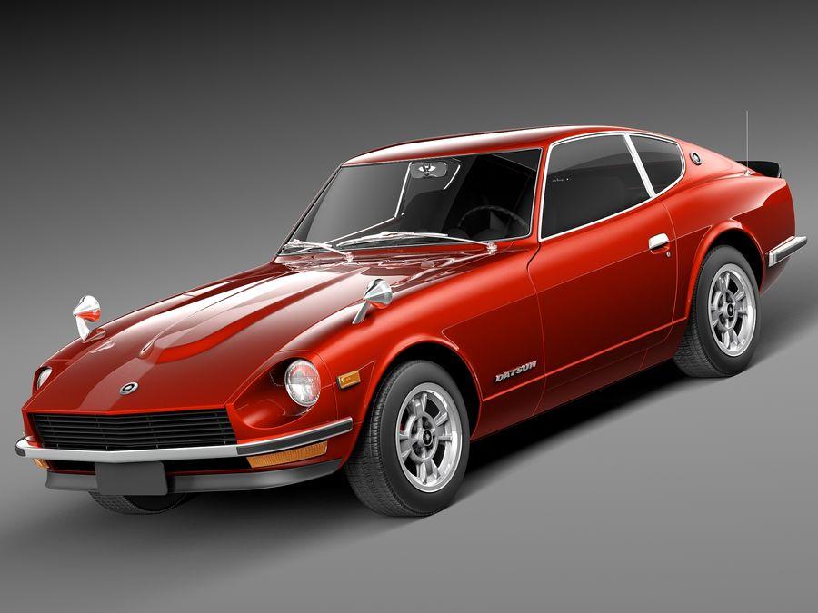 Datsun 240z 1969–1978 royalty-free 3d model - Preview no. 1