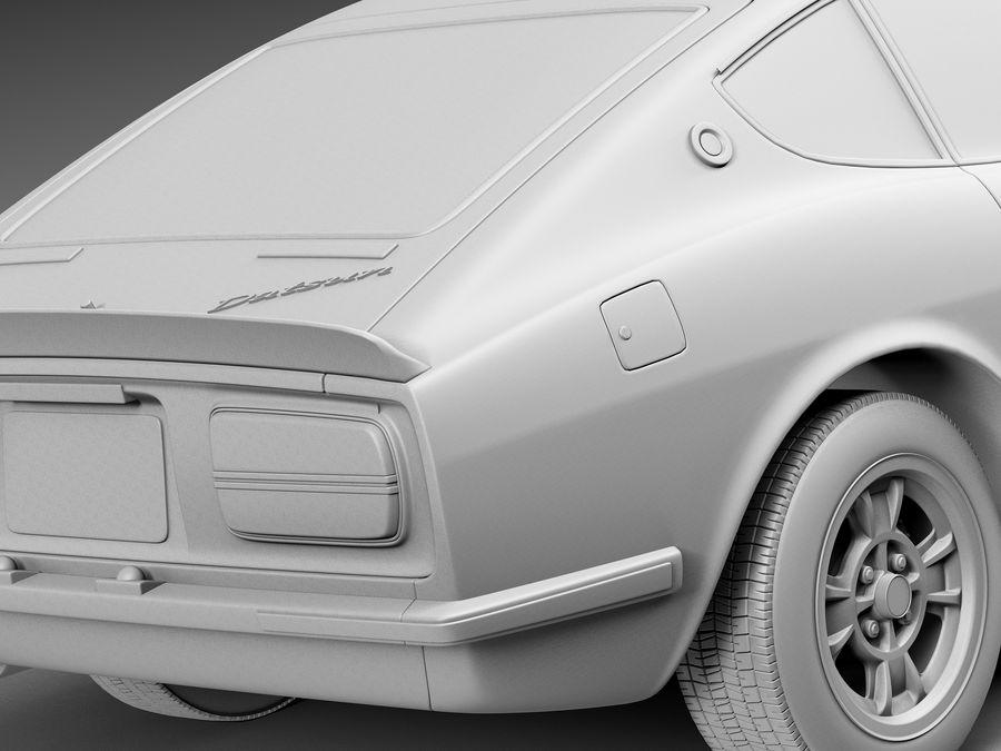 Datsun 240z 1969–1978 royalty-free 3d model - Preview no. 11